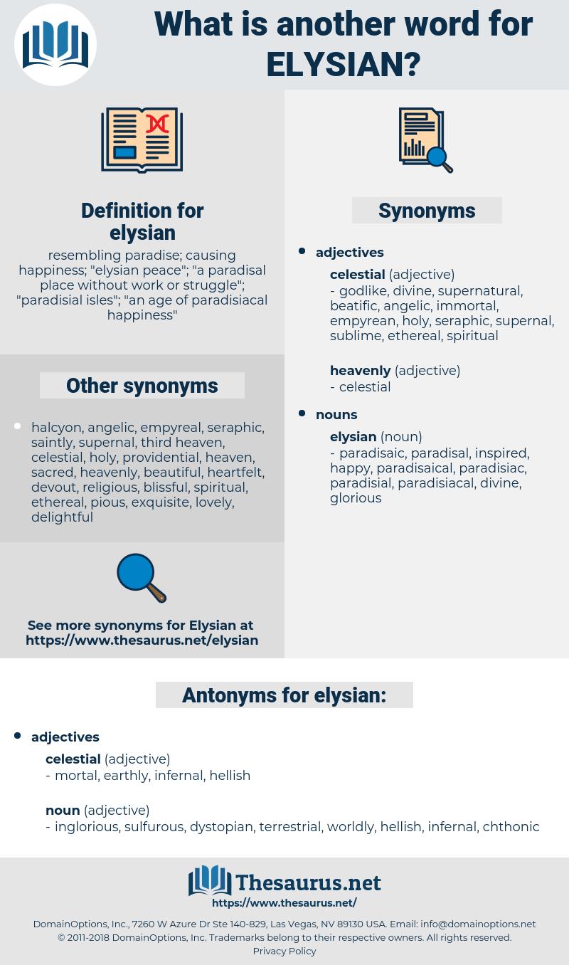 elysian, synonym elysian, another word for elysian, words like elysian, thesaurus elysian