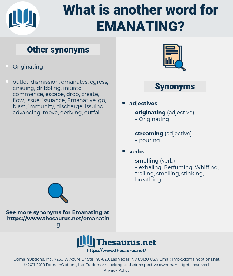 Emanating, synonym Emanating, another word for Emanating, words like Emanating, thesaurus Emanating
