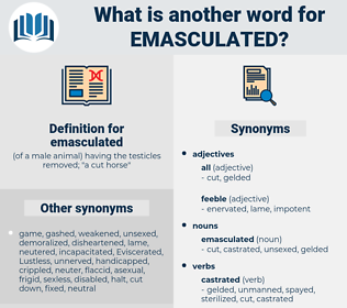 emasculated, synonym emasculated, another word for emasculated, words like emasculated, thesaurus emasculated