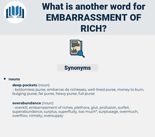 embarrassment of rich, synonym embarrassment of rich, another word for embarrassment of rich, words like embarrassment of rich, thesaurus embarrassment of rich