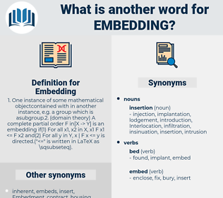 Embedding, synonym Embedding, another word for Embedding, words like Embedding, thesaurus Embedding