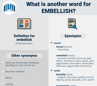 embellish, synonym embellish, another word for embellish, words like embellish, thesaurus embellish