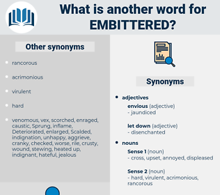 embittered, synonym embittered, another word for embittered, words like embittered, thesaurus embittered