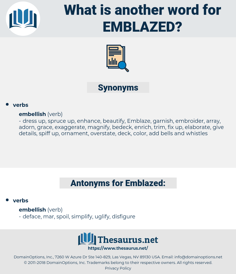 Emblazed, synonym Emblazed, another word for Emblazed, words like Emblazed, thesaurus Emblazed