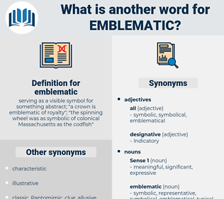 emblematic, synonym emblematic, another word for emblematic, words like emblematic, thesaurus emblematic