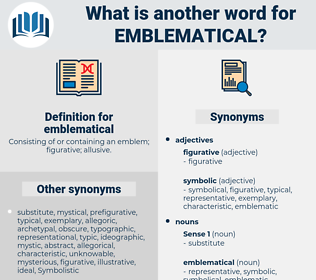 emblematical, synonym emblematical, another word for emblematical, words like emblematical, thesaurus emblematical