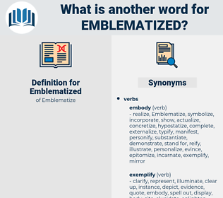 Emblematized, synonym Emblematized, another word for Emblematized, words like Emblematized, thesaurus Emblematized