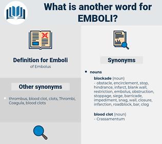 Emboli, synonym Emboli, another word for Emboli, words like Emboli, thesaurus Emboli