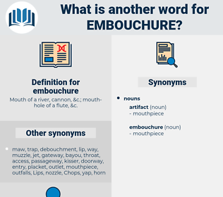 embouchure, synonym embouchure, another word for embouchure, words like embouchure, thesaurus embouchure