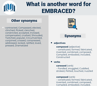 Embraced, synonym Embraced, another word for Embraced, words like Embraced, thesaurus Embraced