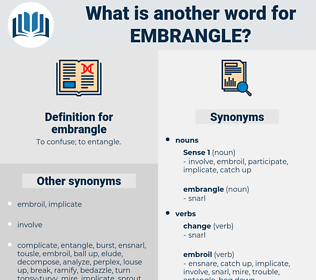 embrangle, synonym embrangle, another word for embrangle, words like embrangle, thesaurus embrangle