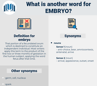 embryo, synonym embryo, another word for embryo, words like embryo, thesaurus embryo