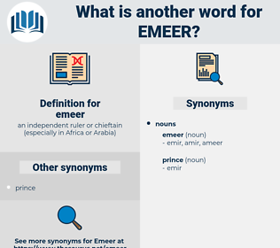 emeer, synonym emeer, another word for emeer, words like emeer, thesaurus emeer