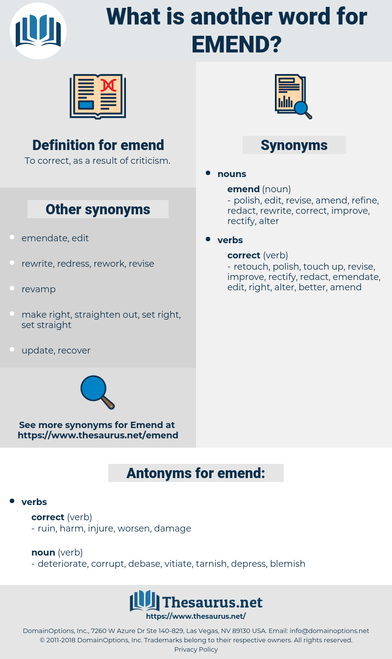 emend, synonym emend, another word for emend, words like emend, thesaurus emend