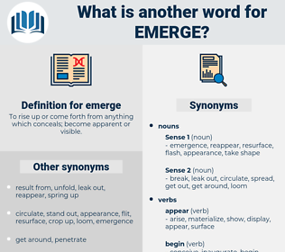emerge, synonym emerge, another word for emerge, words like emerge, thesaurus emerge