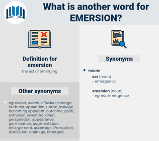 emersion, synonym emersion, another word for emersion, words like emersion, thesaurus emersion
