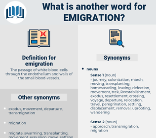 emigration, synonym emigration, another word for emigration, words like emigration, thesaurus emigration