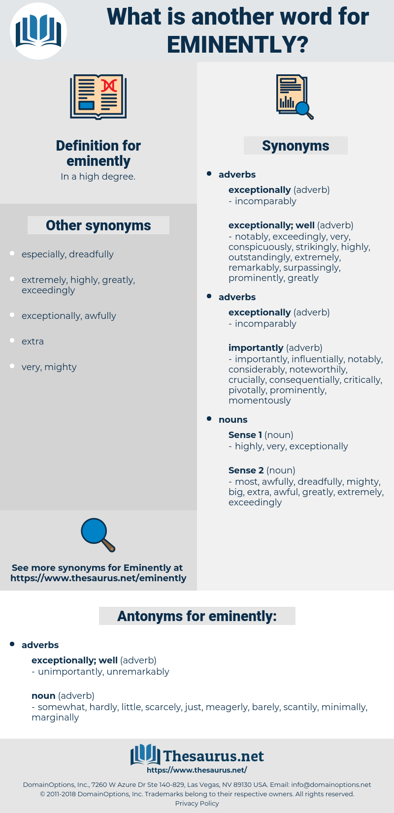 eminently, synonym eminently, another word for eminently, words like eminently, thesaurus eminently