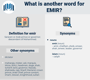 emir, synonym emir, another word for emir, words like emir, thesaurus emir