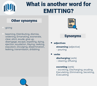 emitting, synonym emitting, another word for emitting, words like emitting, thesaurus emitting