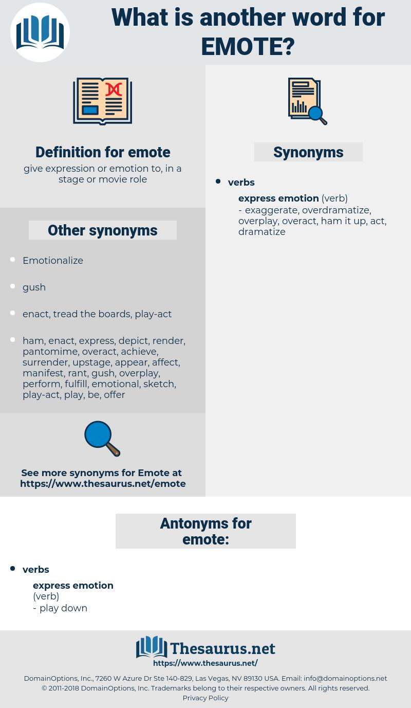 emote, synonym emote, another word for emote, words like emote, thesaurus emote