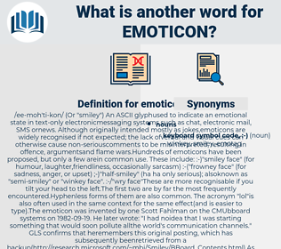 emoticon, synonym emoticon, another word for emoticon, words like emoticon, thesaurus emoticon