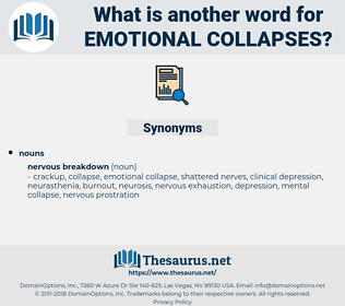 emotional collapses, synonym emotional collapses, another word for emotional collapses, words like emotional collapses, thesaurus emotional collapses