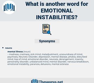 emotional instabilities, synonym emotional instabilities, another word for emotional instabilities, words like emotional instabilities, thesaurus emotional instabilities