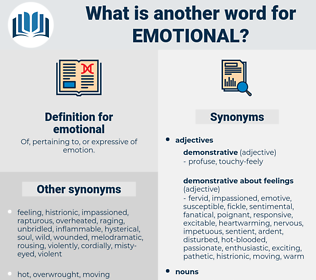 emotional, synonym emotional, another word for emotional, words like emotional, thesaurus emotional