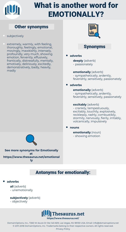 emotionally, synonym emotionally, another word for emotionally, words like emotionally, thesaurus emotionally