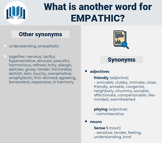 empathic, synonym empathic, another word for empathic, words like empathic, thesaurus empathic