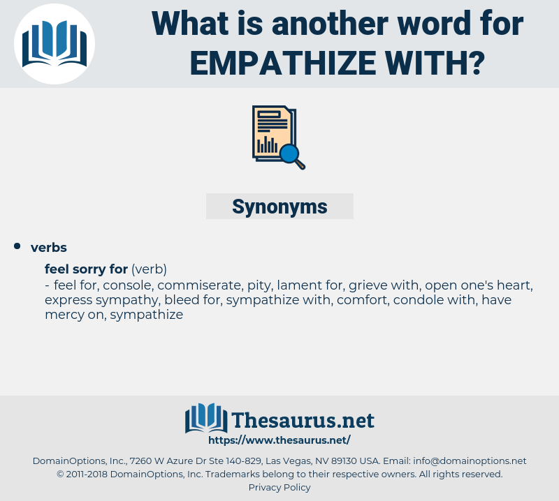 empathize with, synonym empathize with, another word for empathize with, words like empathize with, thesaurus empathize with