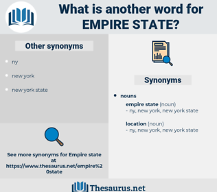 empire state, synonym empire state, another word for empire state, words like empire state, thesaurus empire state