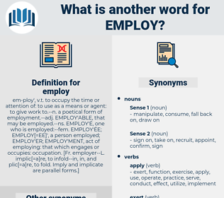 employ, synonym employ, another word for employ, words like employ, thesaurus employ