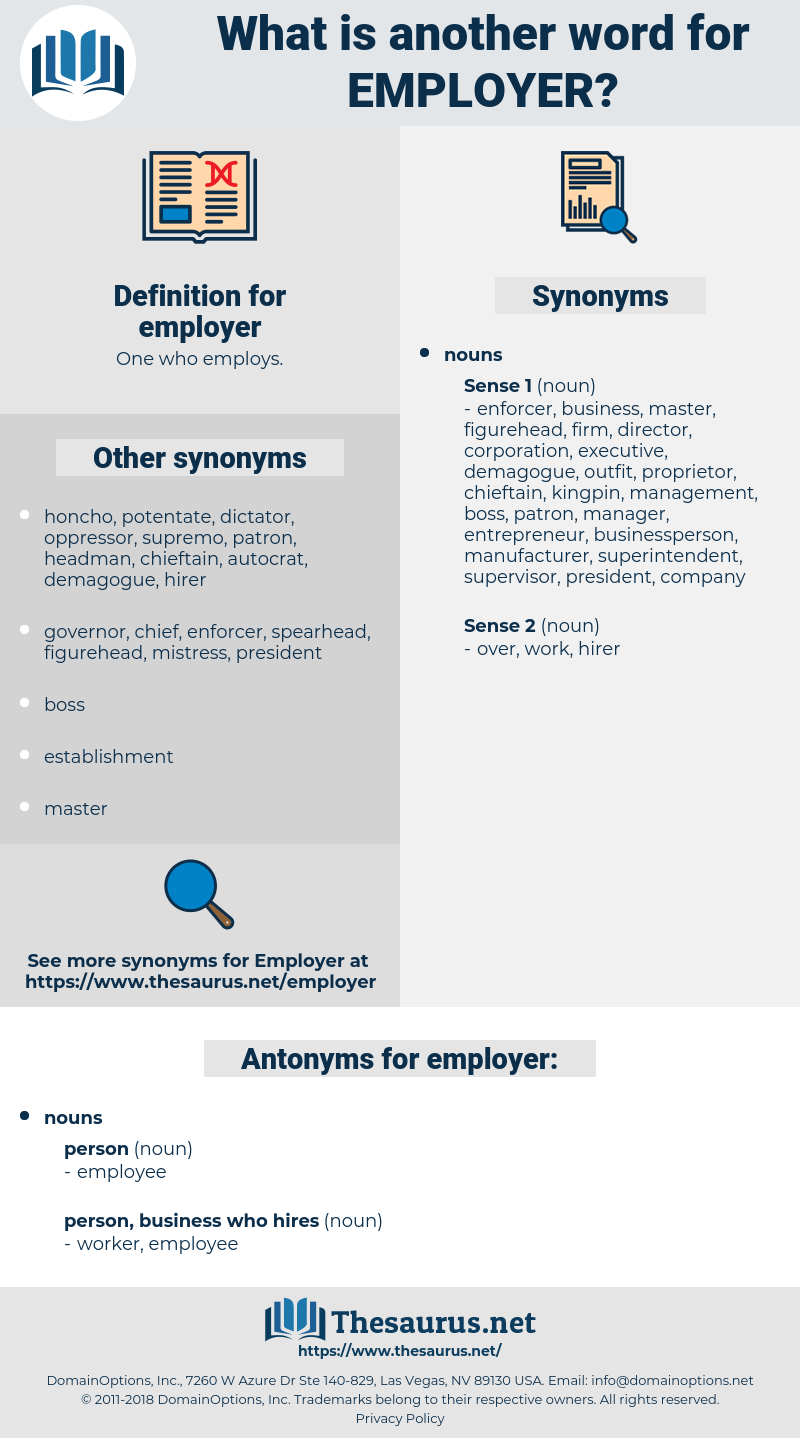 employer, synonym employer, another word for employer, words like employer, thesaurus employer