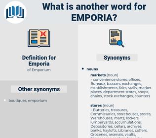 Emporia, synonym Emporia, another word for Emporia, words like Emporia, thesaurus Emporia