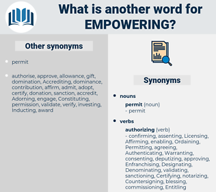 Empowering, synonym Empowering, another word for Empowering, words like Empowering, thesaurus Empowering