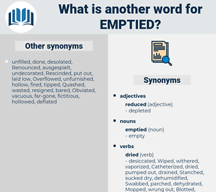 emptied, synonym emptied, another word for emptied, words like emptied, thesaurus emptied