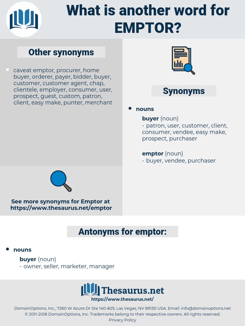 emptor, synonym emptor, another word for emptor, words like emptor, thesaurus emptor