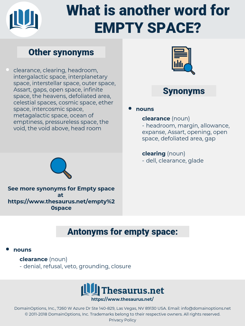 empty space, synonym empty space, another word for empty space, words like empty space, thesaurus empty space