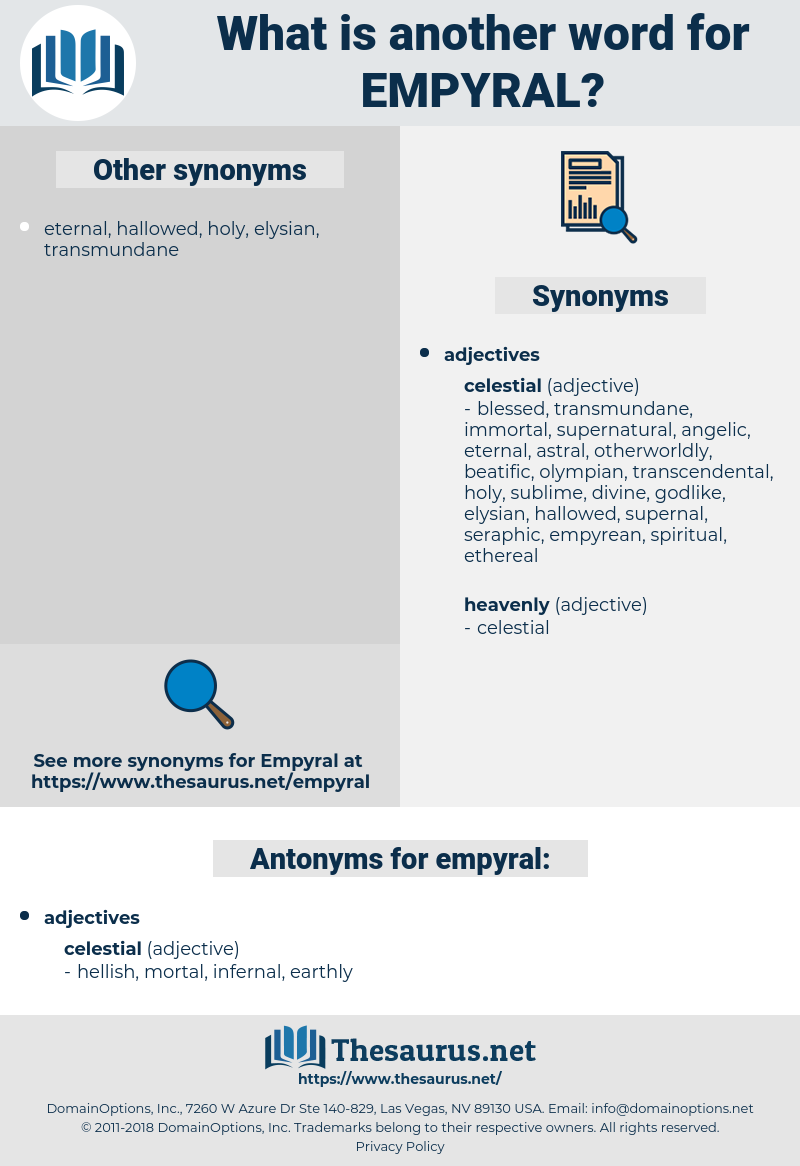 empyral, synonym empyral, another word for empyral, words like empyral, thesaurus empyral