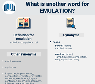 emulation, synonym emulation, another word for emulation, words like emulation, thesaurus emulation