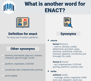 enact, synonym enact, another word for enact, words like enact, thesaurus enact