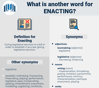 Enacting, synonym Enacting, another word for Enacting, words like Enacting, thesaurus Enacting