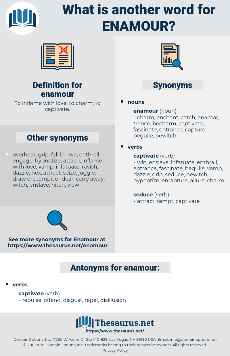 enamour, synonym enamour, another word for enamour, words like enamour, thesaurus enamour
