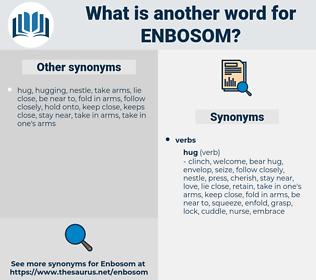 enbosom, synonym enbosom, another word for enbosom, words like enbosom, thesaurus enbosom