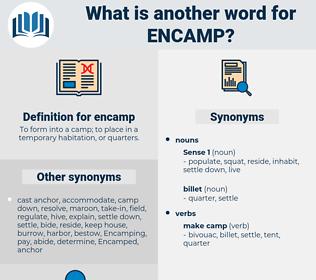 encamp, synonym encamp, another word for encamp, words like encamp, thesaurus encamp