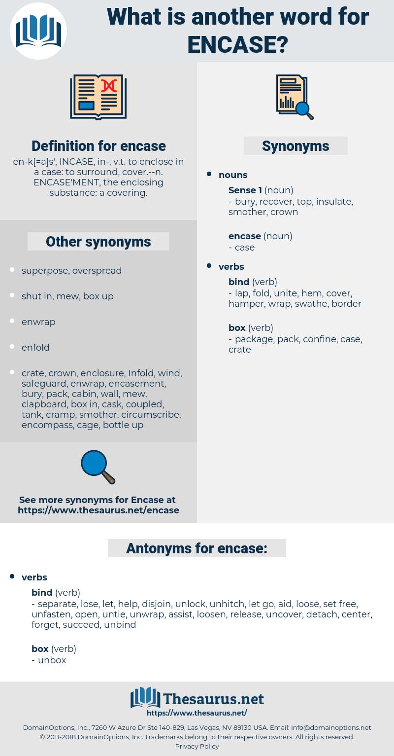 encase, synonym encase, another word for encase, words like encase, thesaurus encase