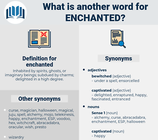 enchanted, synonym enchanted, another word for enchanted, words like enchanted, thesaurus enchanted