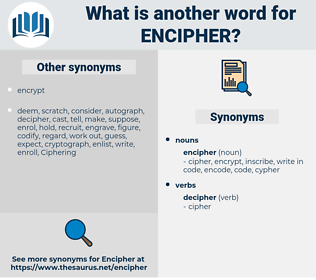 encipher, synonym encipher, another word for encipher, words like encipher, thesaurus encipher